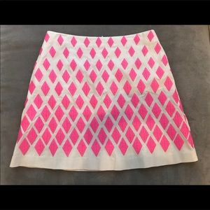 Pink Festival Embroidered Skirt